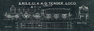 Train Blueprint II Black by Wild Apple Portfolio