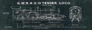 Train Blueprint III Black by Wild Apple Portfolio