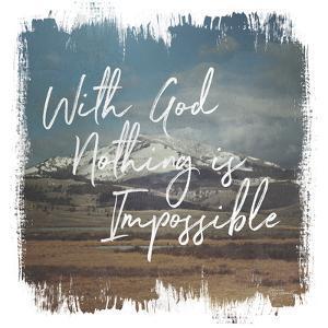 Wild Wishes I With God by Wild Apple Portfolio