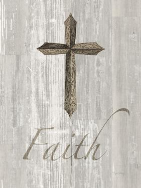 Words For Worship Faith On Wood by Wild Apple Portfolio