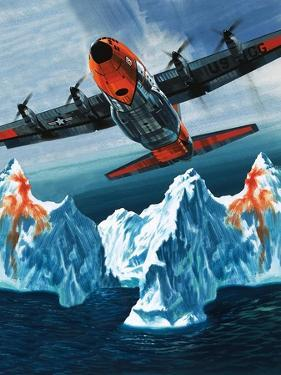 A Lockheed Hercules Patrolling Icebergs for the Coast Guard by Wilf Hardy