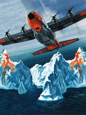 A Lockheed Hercules Patrolling Icebergs for the Coast Guard