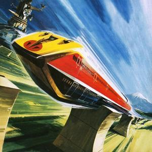 Artist's Conception of a Glider Train by Wilf Hardy