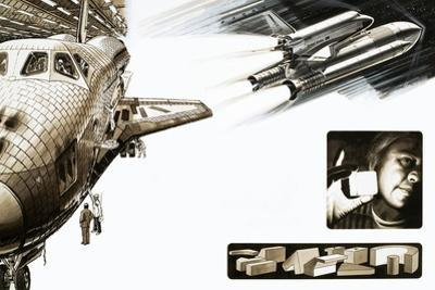 Montage of Images Relating to the Space Shuttle by Wilf Hardy
