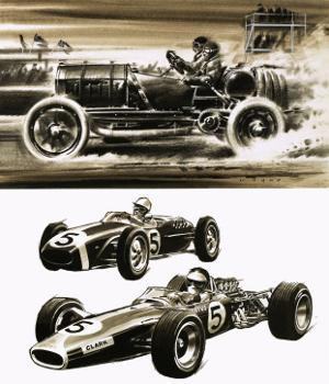 Racing Cars by Wilf Hardy