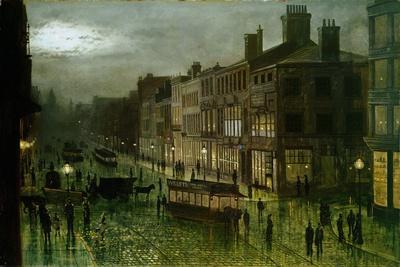 Briggate, Leeds, 1884