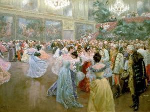 Court Ball at the Hofburg, 1900 by Wilhelm Gause