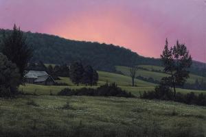 Hillside at Dusk by Wilhelm Goebel