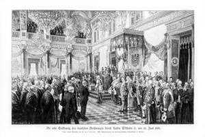 Wilhelm II and the Ministers at the Opening of the Reichstag (25 June 188), 1900