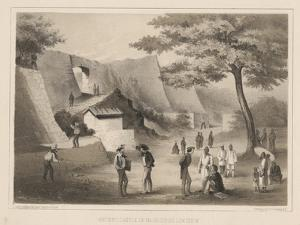 Ancient Castle of Na-Ga-Cus-Ko, Lew Chew, 1855 by Wilhelm Joseph Heine