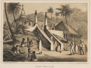 Buddhist Temple, Ceylon, 1855 by Wilhelm Joseph Heine