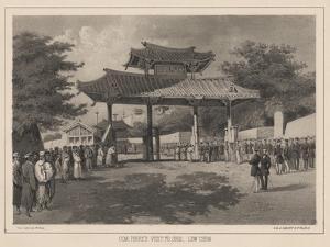 Com: Perry's Visit to Shui, Lew Chew, 1855 by Wilhelm Joseph Heine