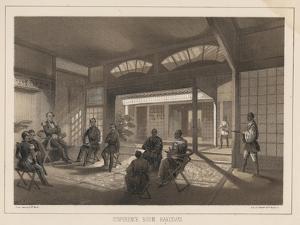 Conference Room, Hakodadi, 1855 by Wilhelm Joseph Heine