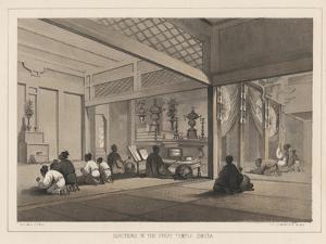Devotions in the Great Temple, Simoda, 1855 by Wilhelm Joseph Heine