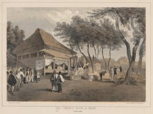Fire Company's House and Engine, Yokuhama, 1855 by Wilhelm Joseph Heine
