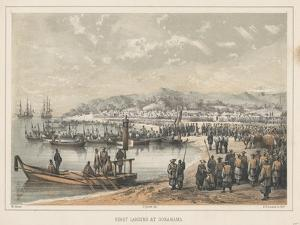 First Landing at Gorahama, 1855 by Wilhelm Joseph Heine