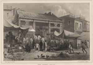 Fish Market Canton, 1855 by Wilhelm Joseph Heine