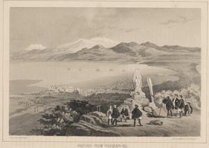 Hakodadi from Telegraph Hill, 1855 by Wilhelm Joseph Heine