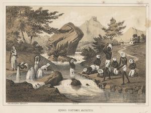 Hindoo Costumes, Mauritius, 1855 by Wilhelm Joseph Heine