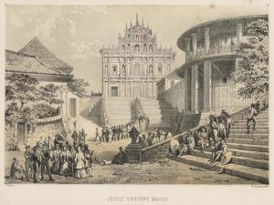 Jesuit Convent, Macao, 1855 by Wilhelm Joseph Heine