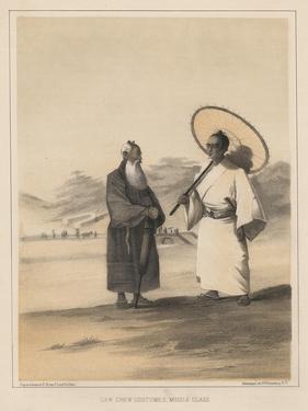 Lew Chew Costumes, Middle Class, 1855 by Wilhelm Joseph Heine