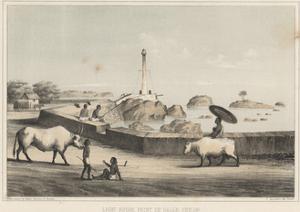 Light House, Point De Galle, Ceylon, 1855 by Wilhelm Joseph Heine