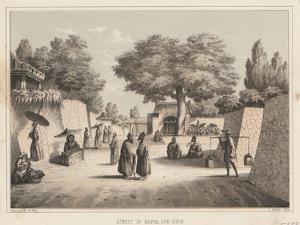 Street in Napha, Lew Chew, 1855 by Wilhelm Joseph Heine