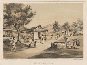 Temple at Tumai, Lew Chew, 1855 by Wilhelm Joseph Heine