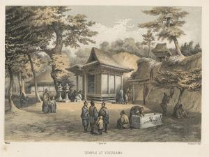 Temple at Yokuhama, 1855 by Wilhelm Joseph Heine