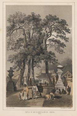 Temple of Hat-Chi-Man-Ya-Chu-Ro, Simoda (Sintoo), 1855 by Wilhelm Joseph Heine