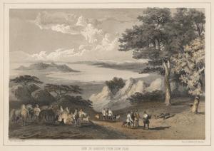 View of Hakodadi from Snow Peak, 1855 by Wilhelm Joseph Heine