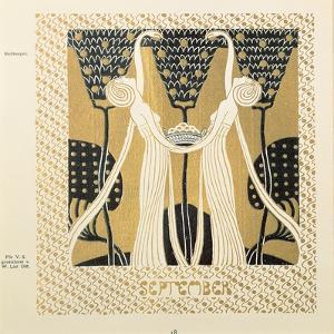 September (Woodcut) by Wilhelm List