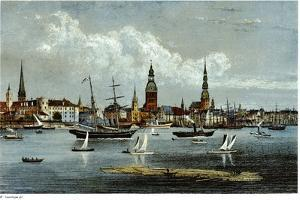 View of Riga, Ca 1855 by Wilhelm Siegfried Stavenhagen