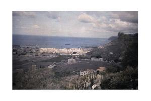 A Man on a Hill Looks Out onto Santa Cruz, the Capital City by Wilhelm Tobien
