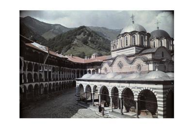 A View of the Rila Monastery Complex from the Courtyard