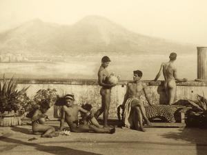 A Classical Scene, Tierra Del Fuego, South America. C.1899 by Wilhelm Von Gloeden