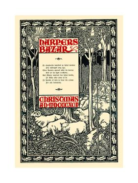 Harpers Bazar, Christmas A.D. MDCCCXCV by Will Bradley