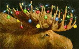 Another Xmas Moose by Will Bullas