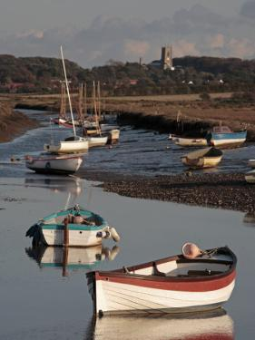 England, Norfolk, Morston Quay; Rowing Boats and Sailing Dinghies at Low Tide by Will Gray