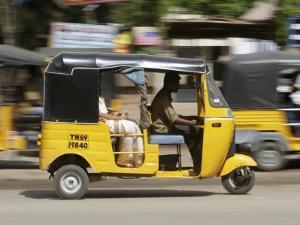 India, Tamil Nadu; Tuk-Tuk (Auto Rickshaw) in Madurai by Will Gray