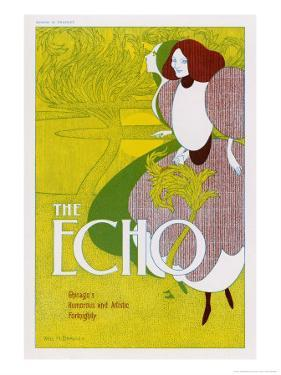 Poster for the Echo, Chicago's Humorous and Artistic Fortnightly by Will H. Bradley