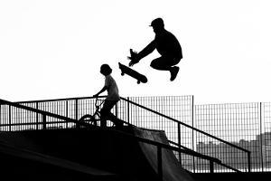 Jumping the Ramp with Skateboard by Will Rodrigues