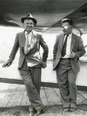 Will Rogers and Wiley Post before their Ill-Fated Flying Exploration of Alaska