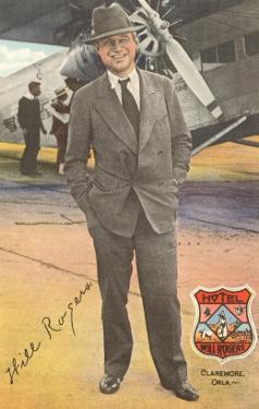 Will Rogers, Standing by Plane