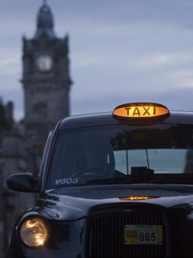 Taxi with Balmoral Hotel in Background by Will Salter