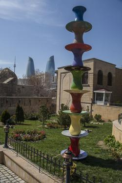 A Colorful Piece of Art in the Gardens of the Palace of the Shirvanshahs by Will Van Overbeek