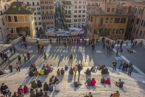 Crowds Lounge on the Iconic Spanish Steps by Will Van Overbeek