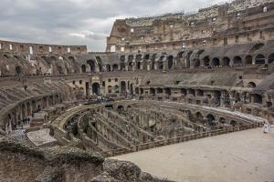 Overlook of the Interior of the Colosseum by Will Van Overbeek