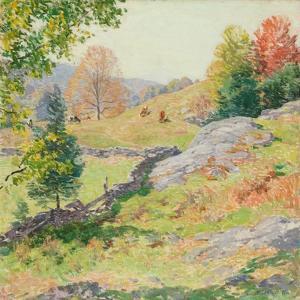 Hillside Pastures—September, 1922 by Willard Leroy Metcalf