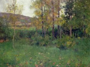 Spring Landscape, Giverny, 1887 by Willard Leroy Metcalf